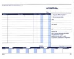 Autofatture iva A5 in duplice copia DATA UFFICIO
