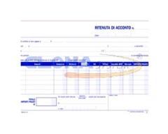 Certificati ritenuta di acconto A5 duplice copia DATA UFFICIO