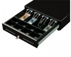 Cassetto metallico porta monete CUSTOM H330 cash drawer 24V