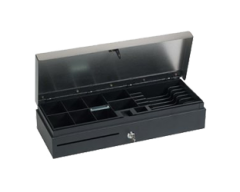 Cassetto metallico porta monete D5 Nero cash drawer 24V