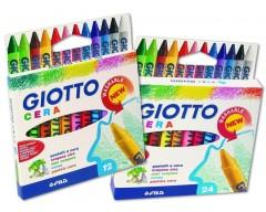 Colori/ Pastelli a cera GIOTTO 12 Pz