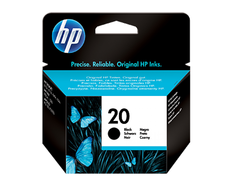 Cartuccia HP Ink 20 BLACK/NERO cod:C6614DE