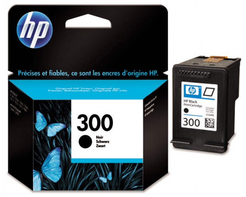 Cartuccia HP Ink 300 BLACK/NERO cod:CC640EE ABE