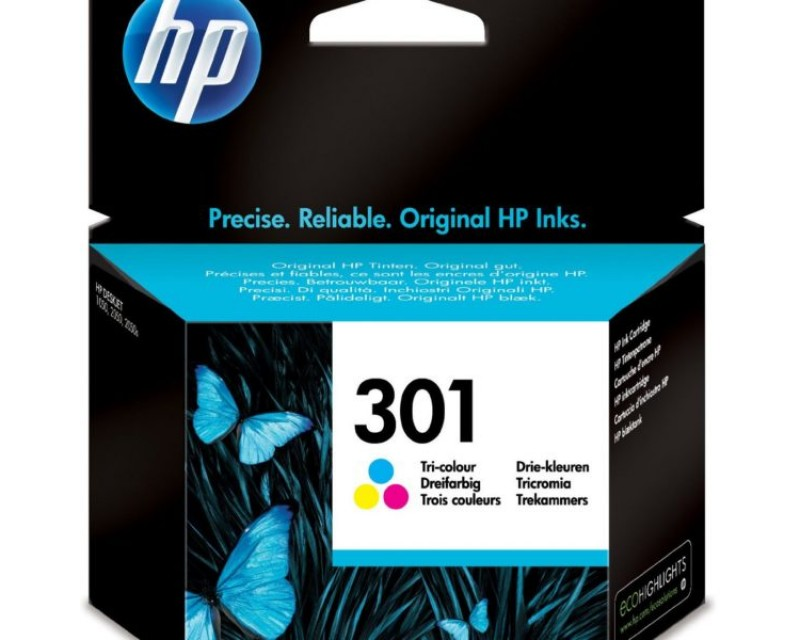 Cartuccia HP Ink 301 COLORI/COLOURS cod:CH562EE UUS
