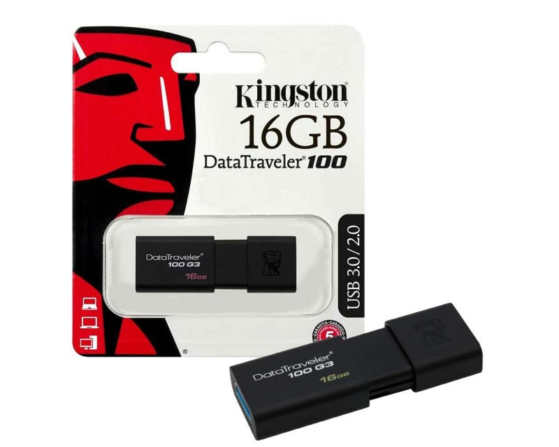 Flash Drive USB 3.1/3.0/2.0 KINGSTON 16 GB
